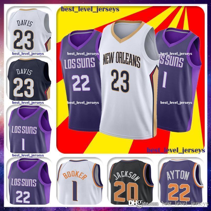 66a5ec0d8f6 2019 Anthony 23 Davis Jersey Phoenix Jerseys Suns Jersey Josh 20 Jackson Jerseys  Denver 1 Booker Jersey Where Are You Going AD   From Best level jerseys ...