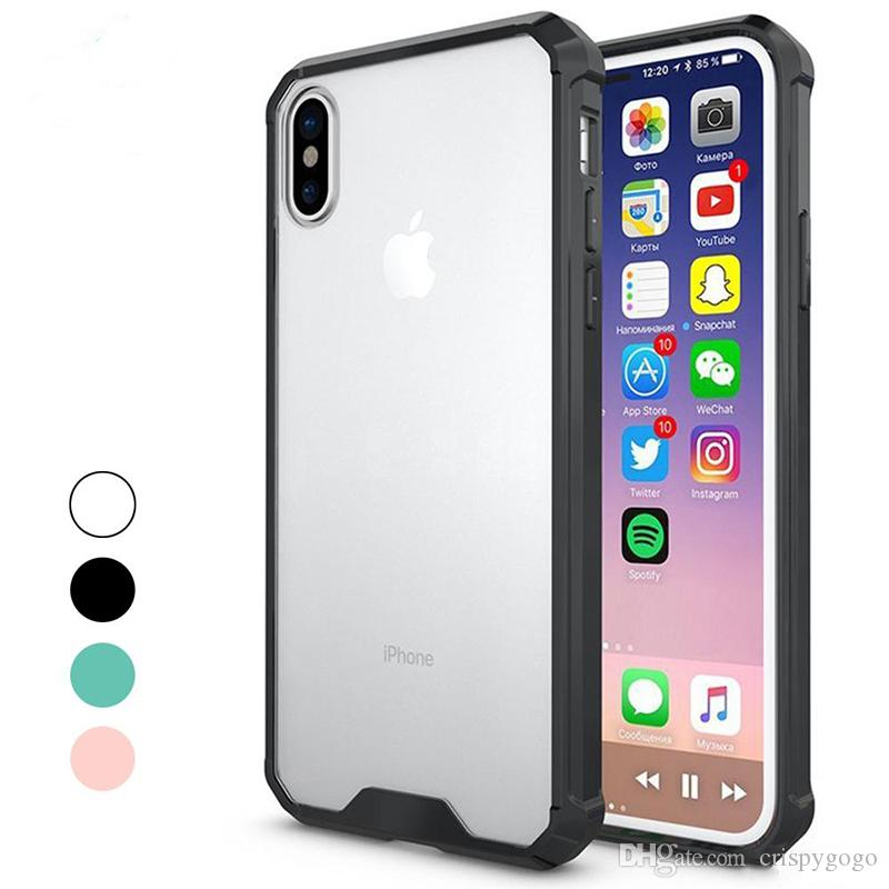 53b92d10bb1 For Iphone 6 7 8 Plus IPhone X Luxury Case Slim Hybrid Hard PC Back & Soft  TPU Bumper Edge Case For Samsung S7 Edge S8 Plus Note8 Best Phone Cases Buy  ...