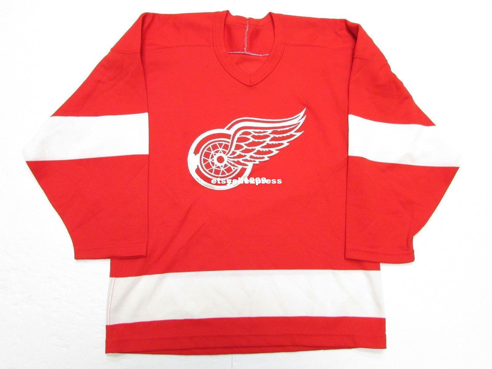 f853320502c 2019 Cheap Custom DETROIT RED WINGS VINTAGE HOCKEY JERSEY Stitch Add Any  Number Any Name Mens Hockey Jersey XS 6XL From Etsyaliexpress, $23.08 |  DHgate.Com