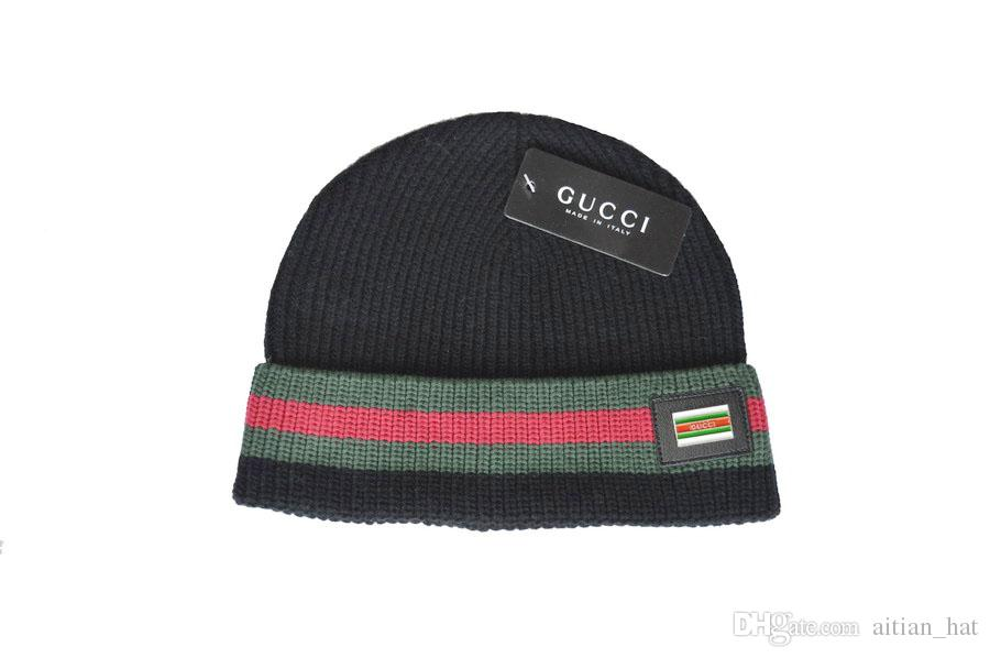 57d1d477964 2019 Fashion Unisex Spring Winter Hats For Men Women Knitted Beanie Wool Hat  Man Knit Bonnet Polo Beanie Gorros Touca Thicken Warm Cap Hoodies Beanies  From ...