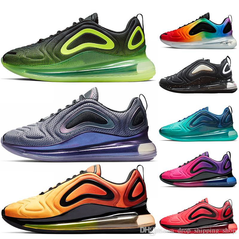 Nike Air Max 720 air 720 zapatos para correr Neon Northern Lights Sunrise Be True Sea Forest Sunset para hombre zapatos para mujer zapatillas de
