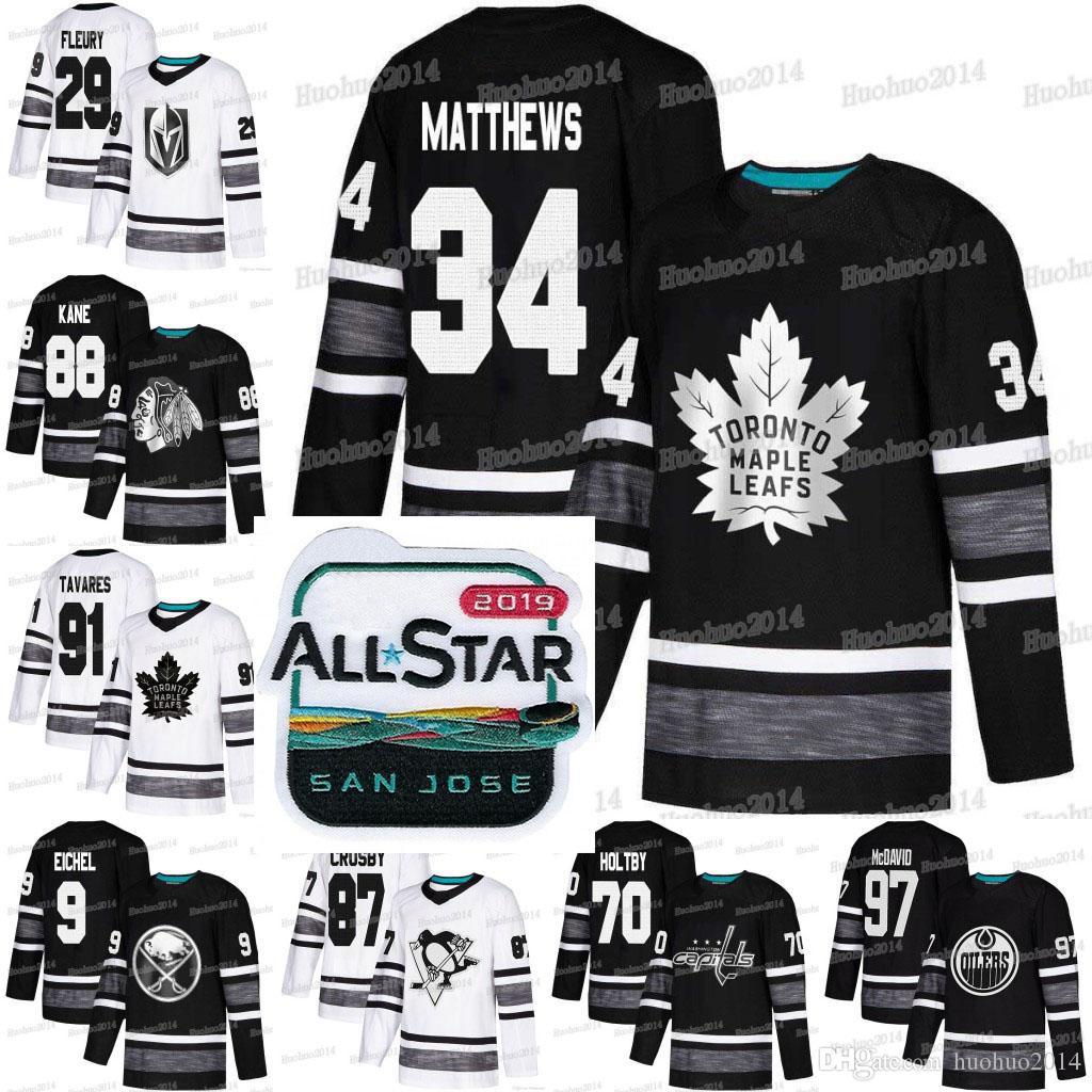 competitive price 2b2e8 f1e47 9 Jack Eichel 2019 All-Star Brent Burns Sidney Crosby Connor McDavid Holtby  Marc-Andre Fleury Kucherov Patrick Kane Tavares Hockey Jerseys