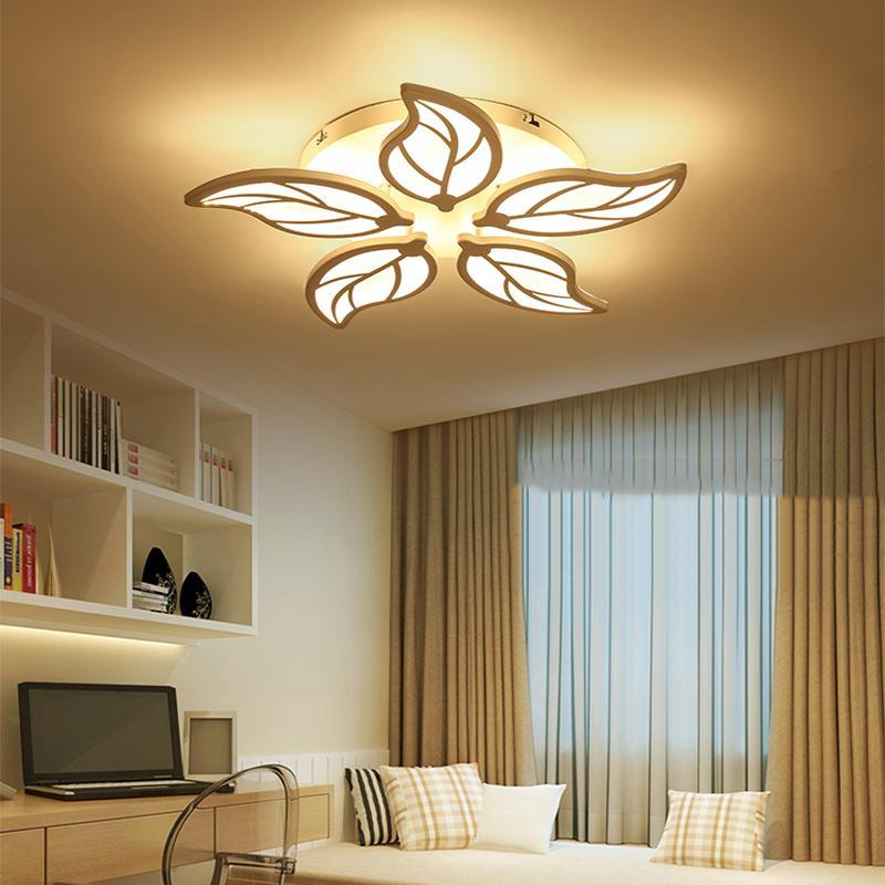 Modern Led Ceiling Chandelier Lights For Living Room Bedroom Dining Study Room White Black Body Ac90-260v Chandeliers Fixtures Ceiling Lights & Fans Lights & Lighting