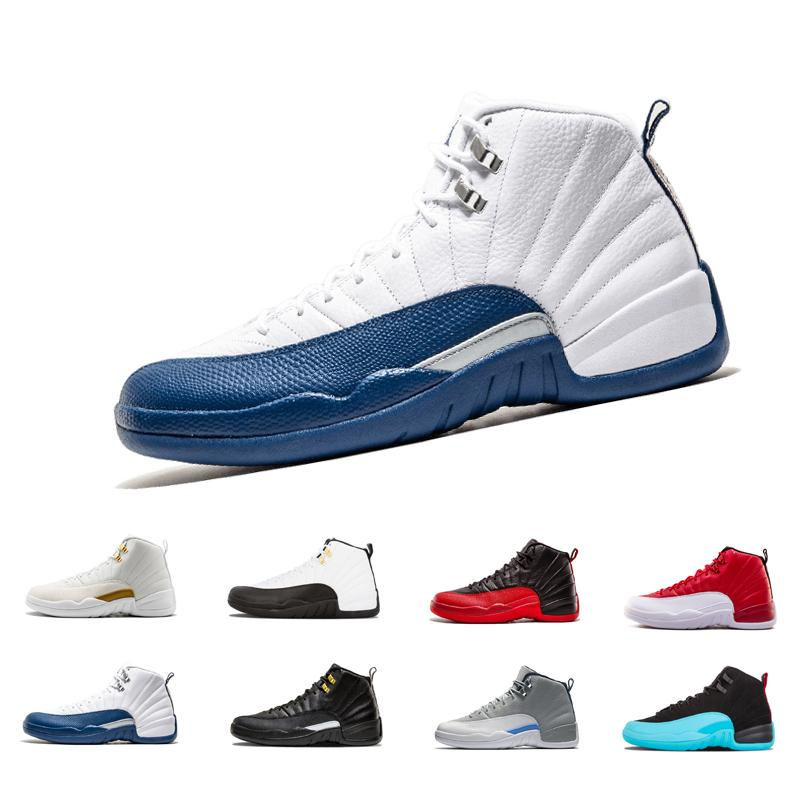 a77ade46cd3 12 12s Mens Basketball Shoes Bordeaux Dark Grey Flu Game The Master Taxi Playoffs  French Blue Barons Royal Red Suede Sunrise Sports Sneakers Cheap Shoes For  ...