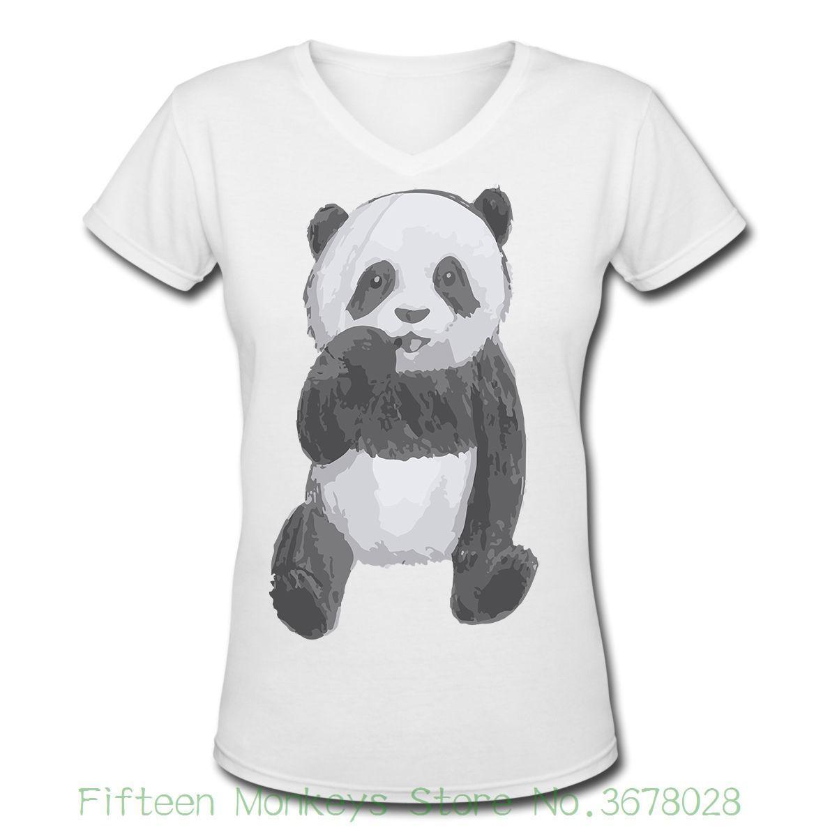 6d4f9e5822d Women S Tee Panda Bear Cute Cub Animal Drawing Women S T Shirt O Neck White  Summer Style Hip Hop Brand Tees T Shirt Prints T Shirt Designing From  Jie72