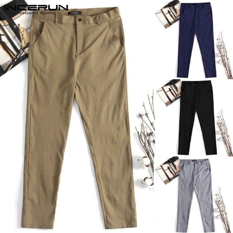 fa76cb4af0 Compre Moda Para Hombre Pantalones Harem Pantalones Chinos Hombre Pantalones  Sólidos Cubiertos Slim Fitness Pantalón Pantalones De Chándal Ropa Pantalon  ...