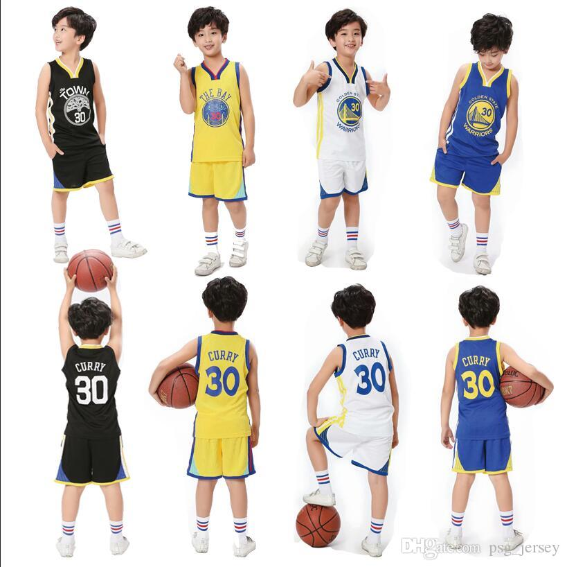 new concept a2ae3 6c166 New GURRY kids basketball jersey 30 Curry Russell UCLA University White  yellow black blue Basketball Jerseys