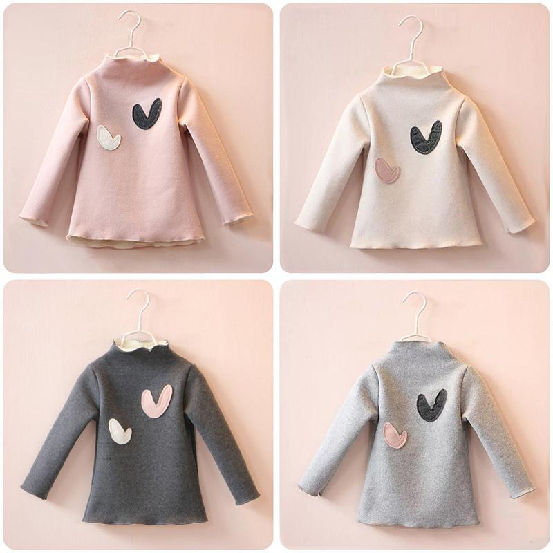 Casual Autumn Winter Baby Girl Children Shirts Blouses Top Tee Long Sleeve Cartoon Print Baby Kids Outerwear Warm Clothes blusas