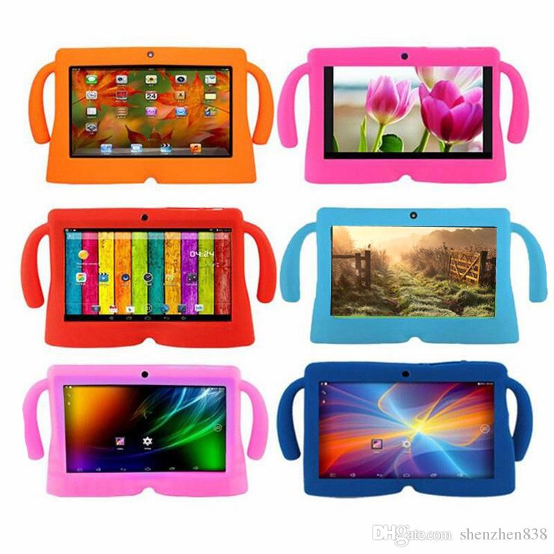 838 Kids Soft Silicone Rubber Gel Case Cover For Q88 A13 A23 A33 Q8 Android Tablet PC