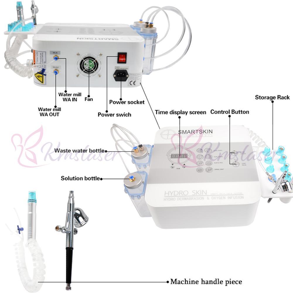 2 IN 1 هيدرا آلة الوجه الجلد Rejuvenaiton اللوازم الطبية هيدرو جلدي إزالة التجاعيد Hydrafacial آلة سبا