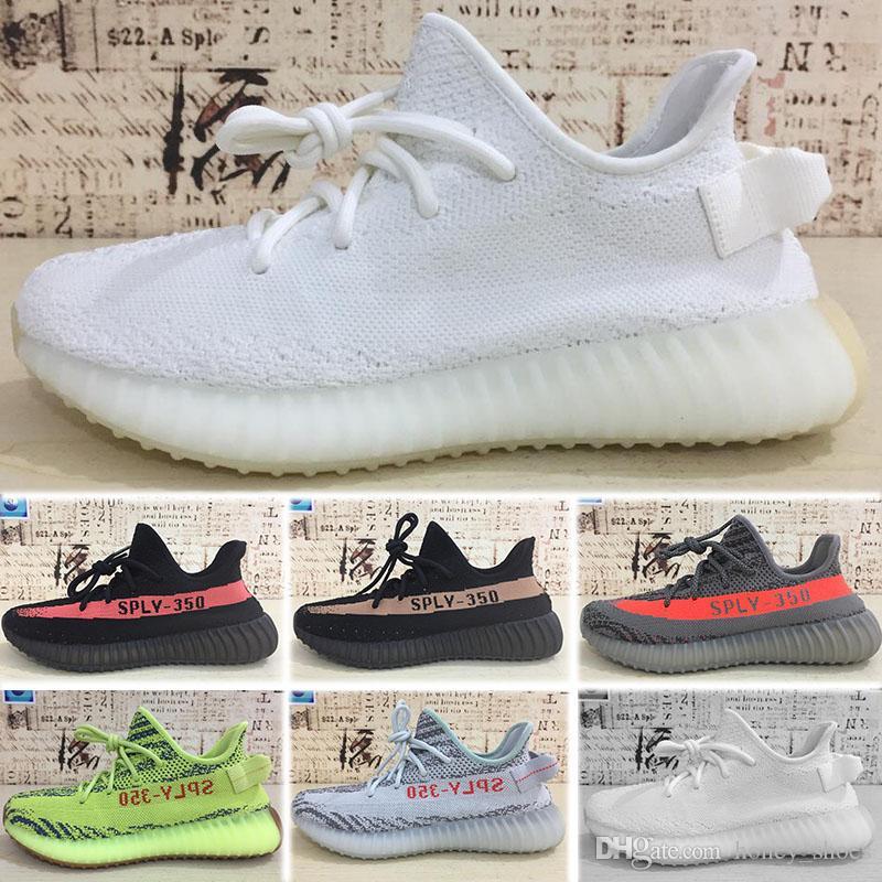 cheap for discount f60a5 86dc9 Compre Adidas Yeezy Boost 350 500 700 V2 Oferta Flash Sply 350 V2 Kanye  West Zapatos Para Correr Descuento Crema Semi Congelada Zebra Blanca Criada  Venta ...