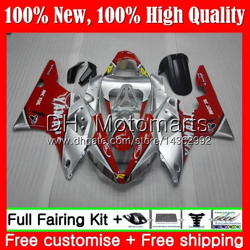 Corpo para YAMAHA YZF 1000 YZF R 1 Vermelho prateado YZF-1000 YZFR1 00 01 Armação 95MT18 YZF R1 00 01 YZF1000 YZF-R1 2000 2001 Carroceria