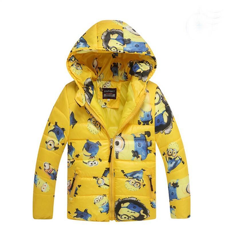 86e6e8ea3 Children S Jacket Minions Cartoon Printing Boys Hooded Zipper Down ...