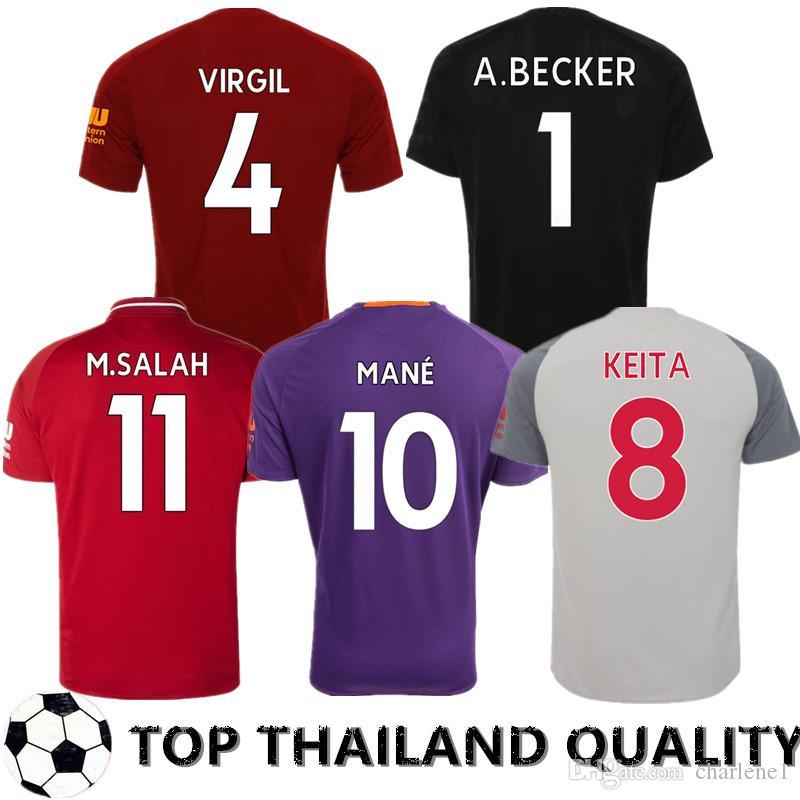 451462a9c 19 20 LFC Liverpool Camiseta De Fútbol Salah 2019 2020 Mane Camiseta De  Fútbol VIRGIL Keita Camiseta De Fútbol FIRMINO Camisa Futebol LALLANA  HOMBRES KIT DE ...