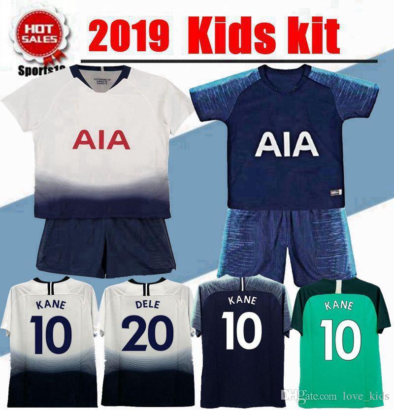 the best attitude fa573 dfac0 2019 2020 kids kit tottenham jersey 19/20 youth boy kit LAMELA ERIKSEN DELE  SON KANE home Away football shirt