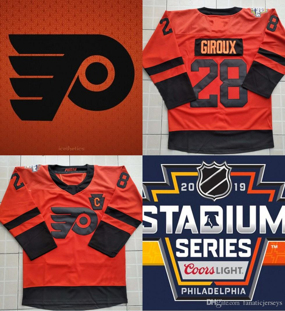 lowest price 9c0dd 53be5 Men Womens Youth 2019 Stadium Series Jersey Philadelphia Flyers 28 Claude  Giroux 100% Stitched Claude Giroux Ice Hockey Jerseys Cheap S-XXXL