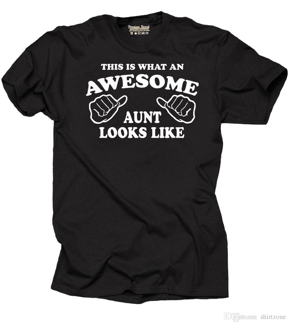 Aunt T Shirt Gift For Birthday Idea Family Tees Men Male Brand Clothing Custom Short Sleeve Plus White Shirts