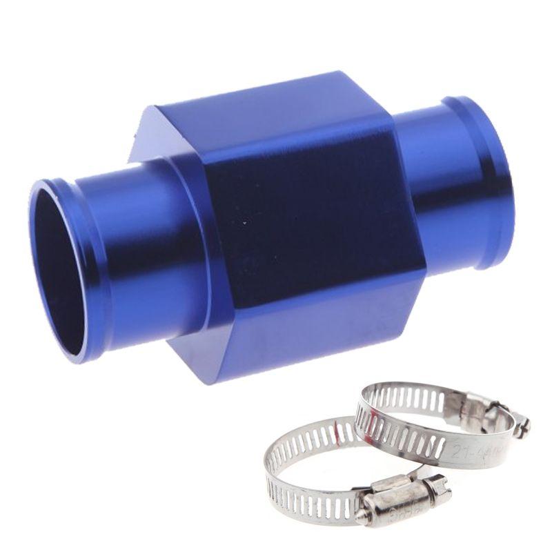 Freeshipping Water Temp Temperature Joint Pipe 38mm Sensor Water Temp Gauge Radiator Hose Adapter 38mm Blue