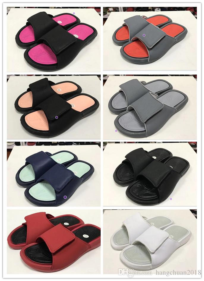 324d51f25b6667 NEW 2019 Hydro 6 Sandals Flame Camouflage Multicolor Massage Slippers 5s Red  White Black Slides Shoes Outdoor Casual Sports Slipper 36 44 Skechers  Sandals ...