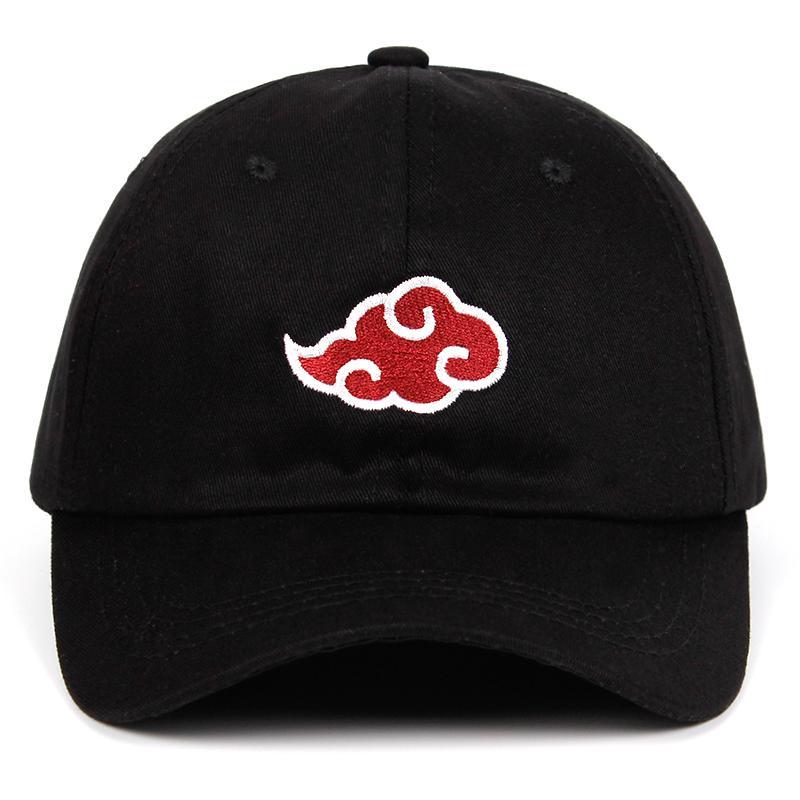 Compre 100% Algodão Japonês Logotipo Akatsuki Anime Naruto Pai Chapéu  Uchiha Logotipo Da Família Bordado Bonés De Beisebol Preto Snapback Chapéus  De ... cfbbd9b1148