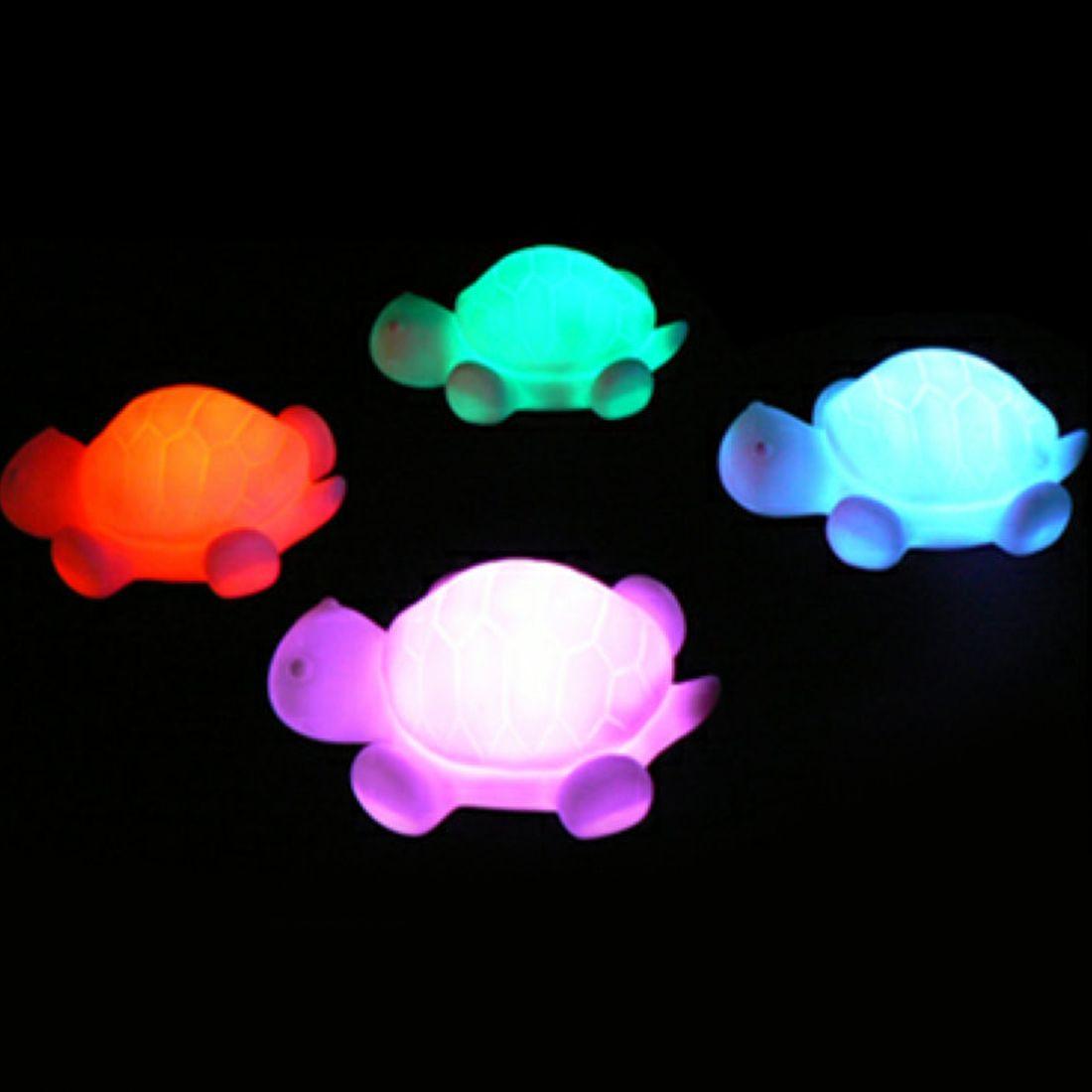 1pcs New Turtle LED 7 Colours Night Light Lamp Party Festival Christmas Decoration Colorful Lights