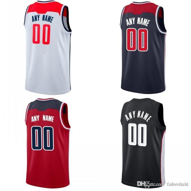 a6b420436e5e 2019 Custom 2019 Basketball Jersey Washington John Bradley Wall Beal Trevor  Dwight Ariza Howard Sam Ian Dekker Mahinmi Wizards Men Jerseys From Tobe  Best