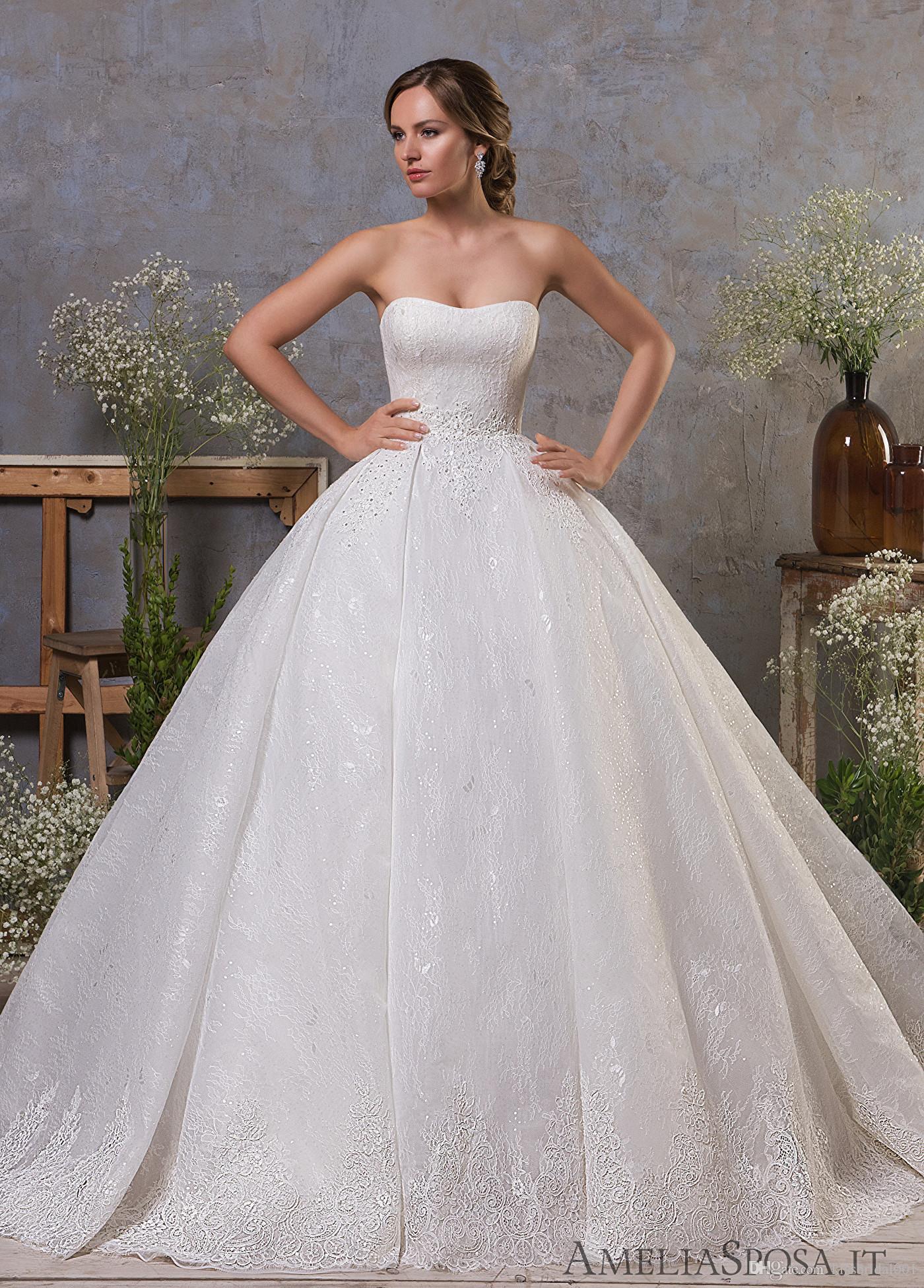 c991ebc2d Compre Elegantes Vestidos De Novia De Encaje 2019 Princesa Fuera Del Hombro  Vestidos De Novia Vestido De Fiesta Vestido Formal De La Vendimia Para La  Novia ...