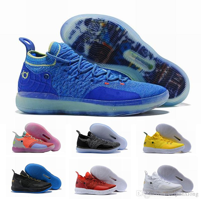 58bfafb0a53edd 2019 2019 New KD11 Mens Basketball Shoes Fashion EP White Orange Foam Pink  Paranoid Oreo ICE Kevin Durant 11 Sports Designer Sneakers Shoe From  Caijianxiong ...