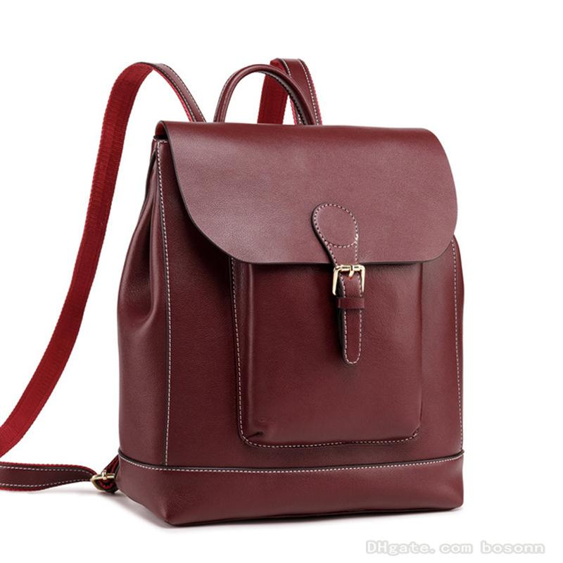 2019 NEW Women Backpack Purse Genuine Leather Casual Daypack School ... 6a5ad2c2aa4c4