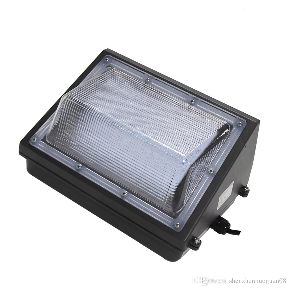 400w metal halide fixture equivalent 100w led wall pack crystal white 5000k outdoor lighting 12000 lumens 100 277vac wet location flood lamp