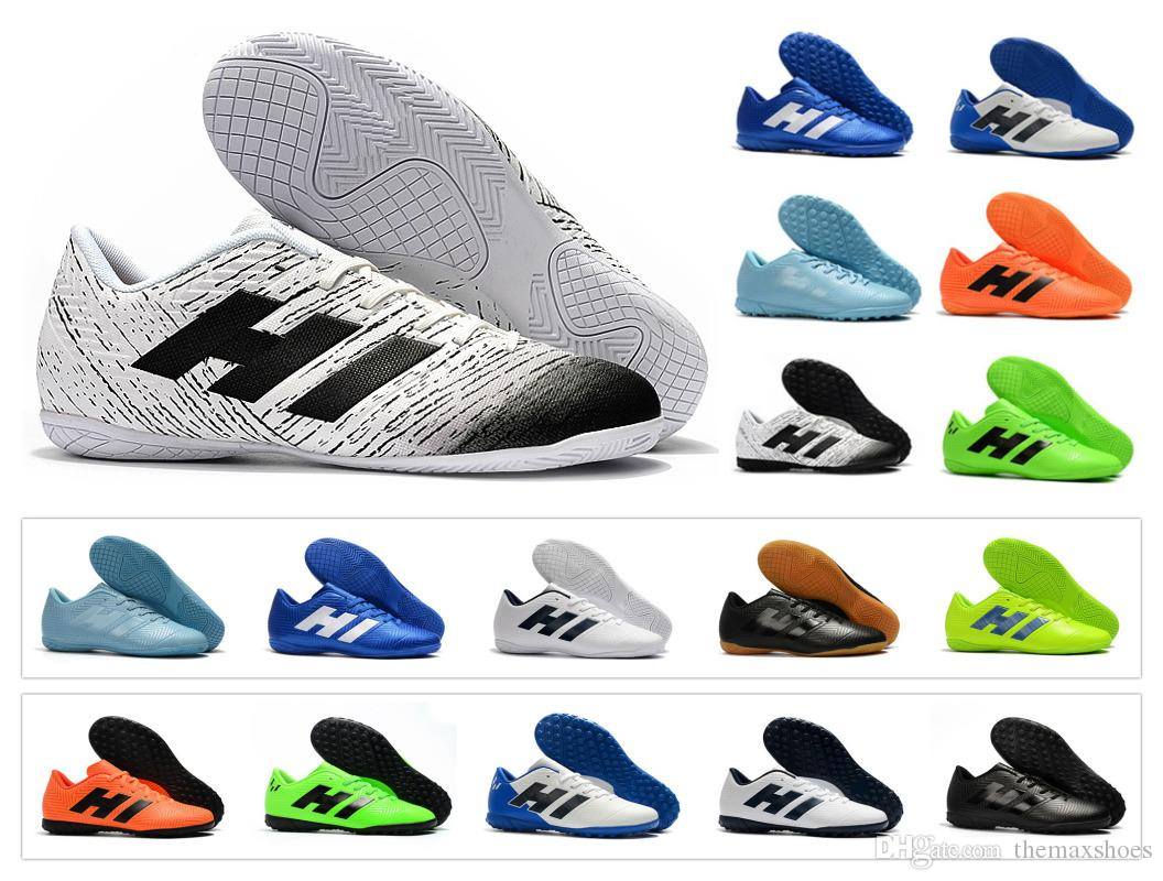8c5034045 2019 New Nemeziz Messi Tango 18.4 IC TF Cheap Turf Cleats 18 Mens Indoor  Outdoor Soccer Shoes Football Boots Size 6.5 11 From Themaxshoes
