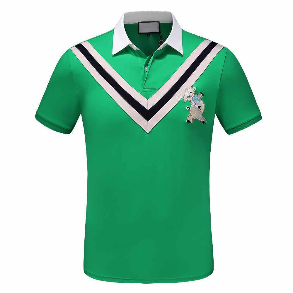0d86f29b Compre Hombres De La Marca Polos Tee Hombres De Lujo De Diseñador Camisas  De Polo 2019 Nuevo Color Sólido Polos Casual Para Hombre Loose Summer  Camisetas ...