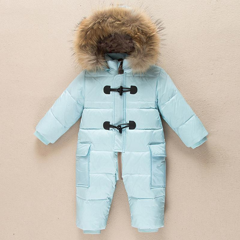 aab5d69220ae Russian Newborn Winter Baby Clothes Snowsuit 90% Duck Down Jacket ...