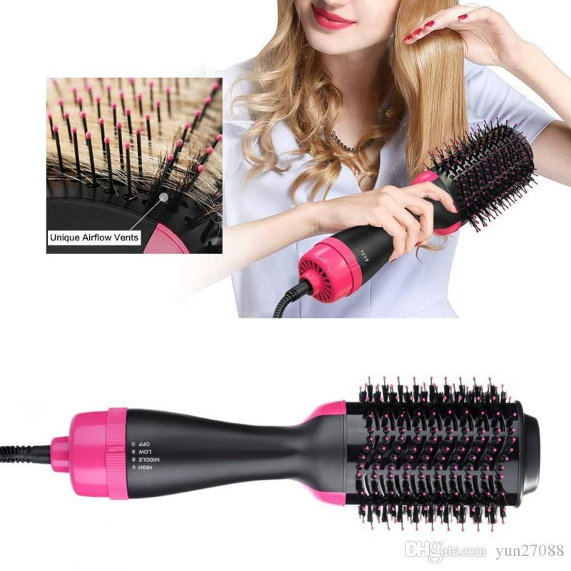 One-Step Hair Dryer & Volumizer Roller Electric Hot Air Brush Curling & Straightener Blow Dryer Salon Hot Air Hair Styling Comb Dropshipping