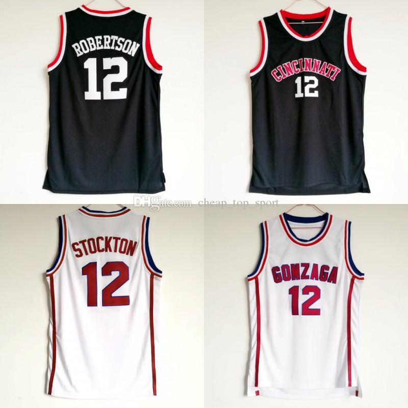 newest b21b8 6a07c Mens Cincinnati Bearcats Oscar Robertson College Basketball Jerseys Vintage  Oscar Robertson #12 Home Black Stitched Basketball Shirts S-XXL