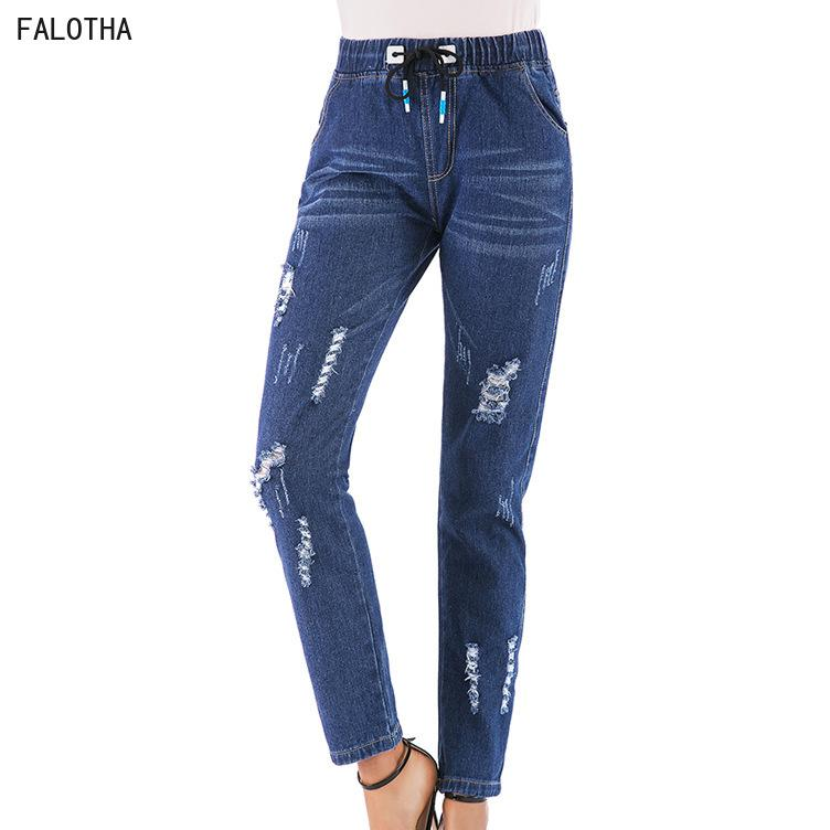 02de7a6f03 2019 Autumn Explosion Denim Trousers Lace Up Feet Harlan Jeans Women  Fashionnova From Chikui