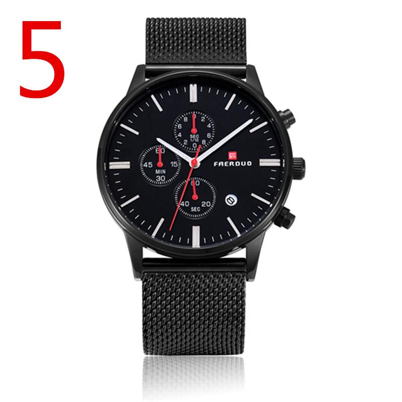 men Fashion Watch Leather Band Concise Casual Luxury Business Wristwatch1