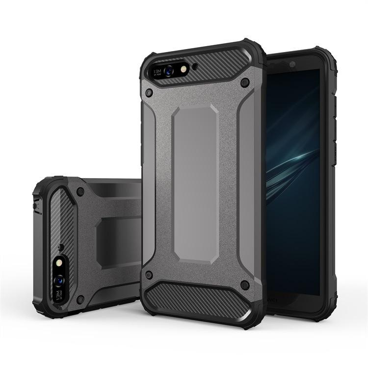 new product 05163 802b1 Defender Impact Rugged Armor Combo Case for Huawei Y6 2018 Y5 Y9 Honor 10  Lite P20 Pro Mate 10 P8 Y7 2017 Cover