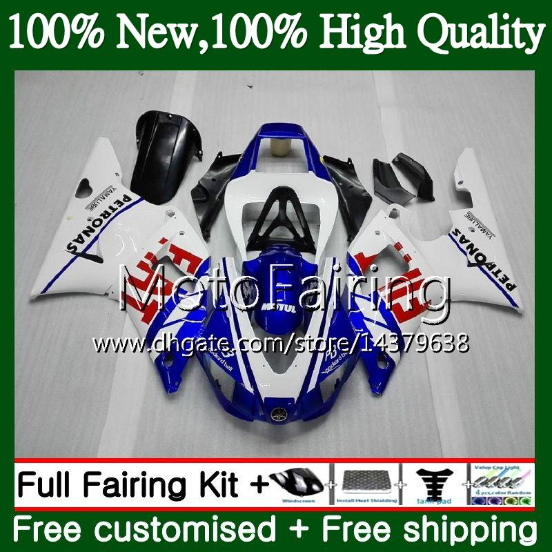 Body For YAMAHA YZF R 1 YZF 1000 YZF1000 YZFR1 98 99 Frame Blue white 93MF8 YZF-1000 YZF R1 98 99 YZF-R1 1998 1999 Fairing Bodywork Kit