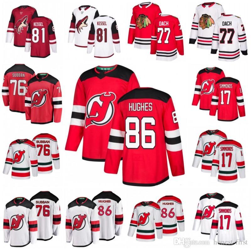 outlet store 3d607 20c90 86 Jack Hughes Jerseys New Jersey Devils 17 Wayne Simmonds 76 P.K. Subban  Arizona Coyotes 81 Phil Kessel Chicago Blackhawks 77 Kirby Dach