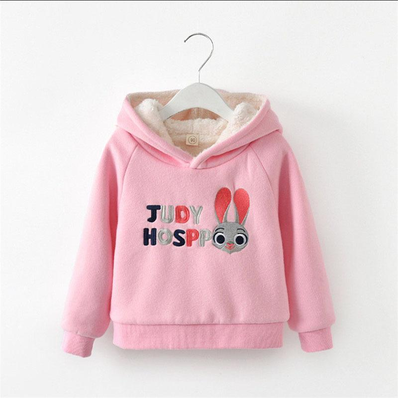098031da497f0 2019 Good Quality Autumn Winter Girls Sweatshirts Cartoon Print Hooded Tops  Girls Plus Velvet Clothes Warm Thicken Hoodies For Children From  Textgoods03