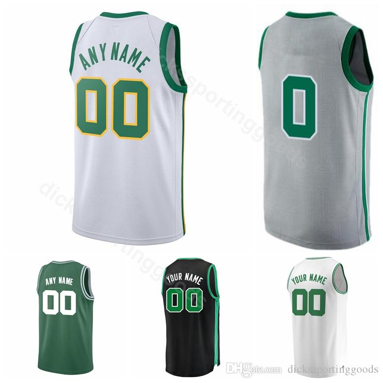 new concept 78e05 f5f0b College Printed 11 Kyrie Irving Jersey Men Basketball 7 Jaylen Brown 0  Jayson Tatum 20 Gordon Hayward 42 Al Horford Custom Name Number