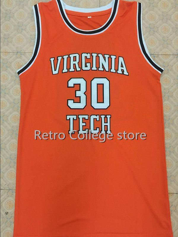 1d69790c930e 2019  30 Dell Curry Virginia Tech University Hokies College Basketball  Jerseys Orange Top Custom Any Number And Name XS 6XL Vest Jerseys NCAA From  ...