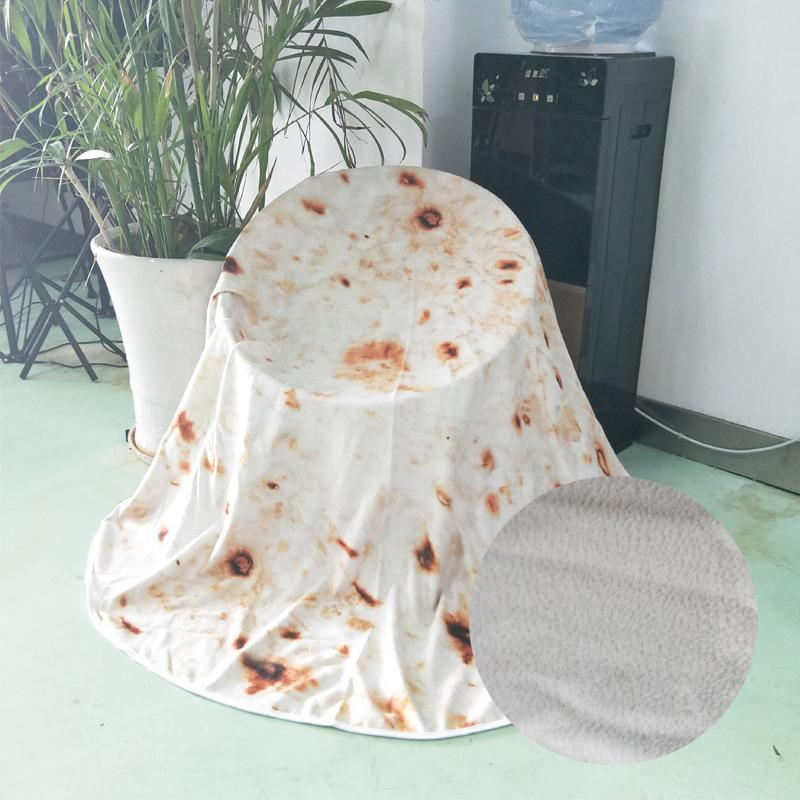 Comfort Creations Burrito Wrap Blanket Perfectly Round Tortilla Throw for