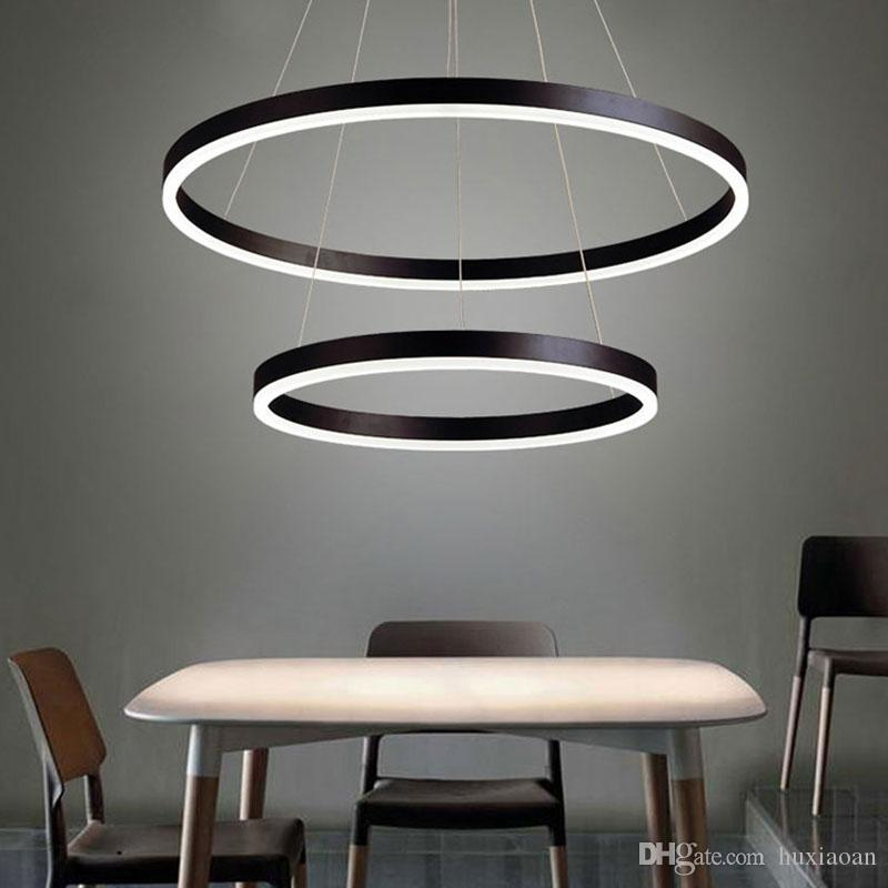 Modern LED Ring Pendant Lights For Living Room Dining room Kitchen Lustre Pendant Lamp Hanging Ceiling lamp Fixtures