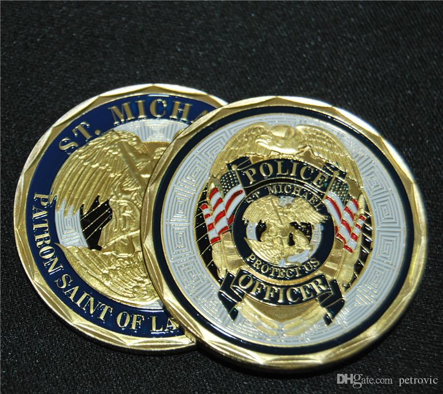 Satın Al St Michael Polis Memuru Rozeti Mücadelesi Coin Kanunu