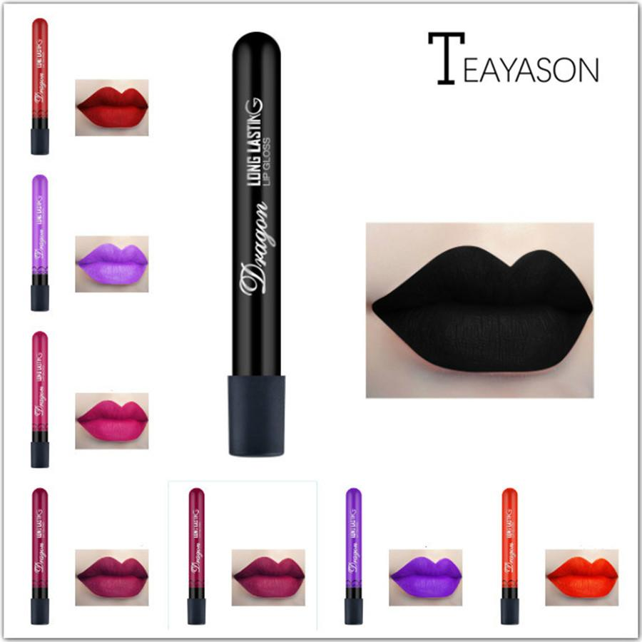1 Pcs Sexy Vampire Lipstick Matte Waterproof Velvet Lip Stick 28 Colors Sexy Red Pigments Makeup Matte Lipsticks Beauty Lips