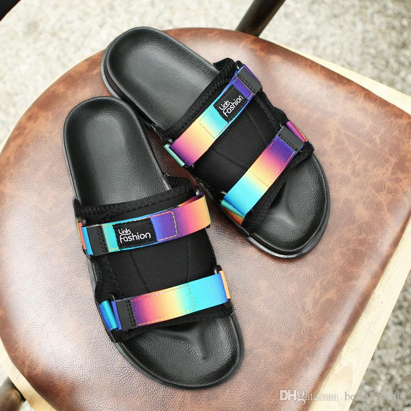 Hombre Exterior De Interior Para Barato Diseño Verano Ropa Zapatillas Sandalias Tela BodrCxeW
