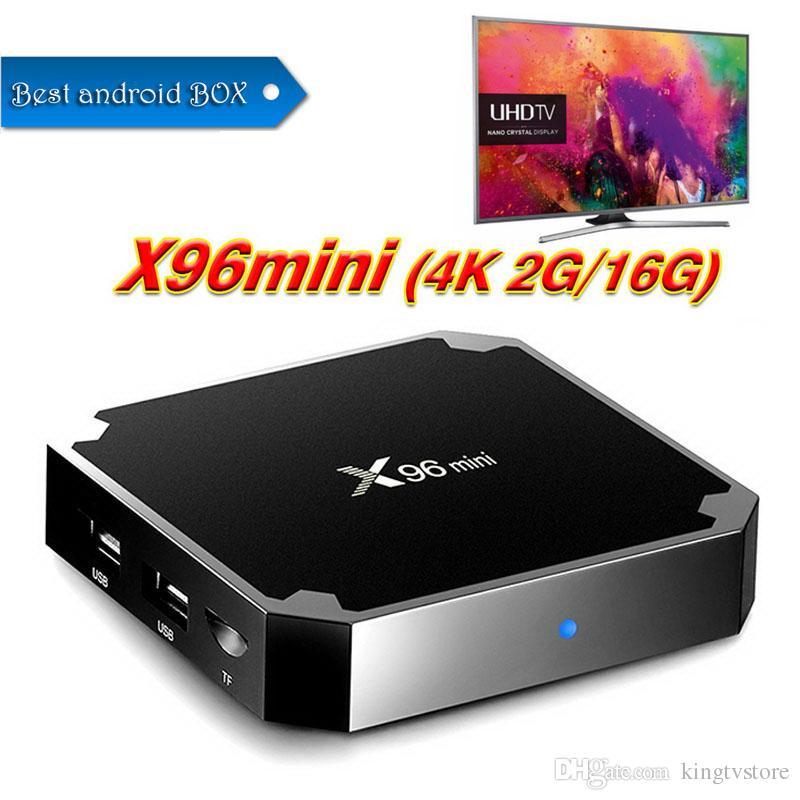 X96 Mini Android 7 1 Amlogic S905W STB tv box 1GB 8GB 2GB 16GB eMMC Flash  player 4K Smart Android TV Box Better tx3 MXQ Pro