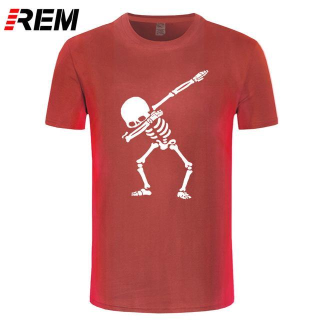 65f7473861 Mens Designer Clothes Brand Polo REM Hip Hop Dabbing Skeleton Mens T Shirt  Punk Black Shirts Men Funny Skull T Shirts Contrast Color Make T Shirts  Online ...